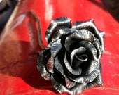 Gothic black steel rose, ...