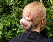 Copper heart hair pin, te...