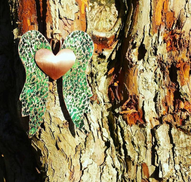 Angel wings Christmas tree memorial decoration image 0