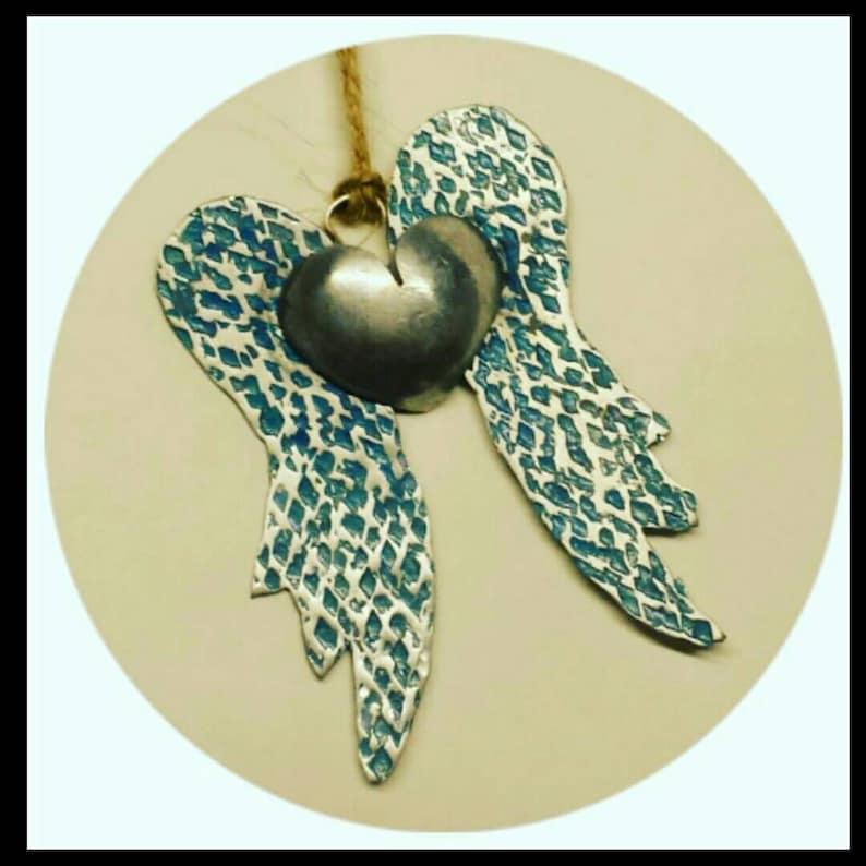 Silver Angel wings memorial in memory of Christmas image 0
