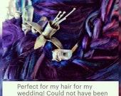 Fuchsia hairpin, hair cho...