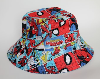 f616bc8c568 Hat Bucket Hat Spiderman for children from 6 months to 5 years