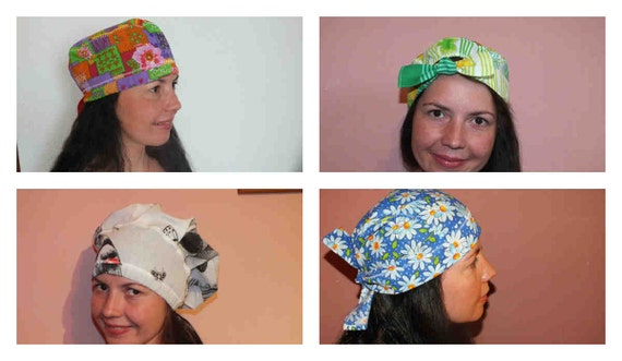SEWING PATTERN Scrub hats 4 Bouffant scrub hat scrub sewing  77f2f473249