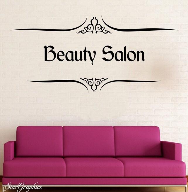 Beauty Salon Wall Art Sticker Hair Hairdresser Decal Shop Sign   Etsy