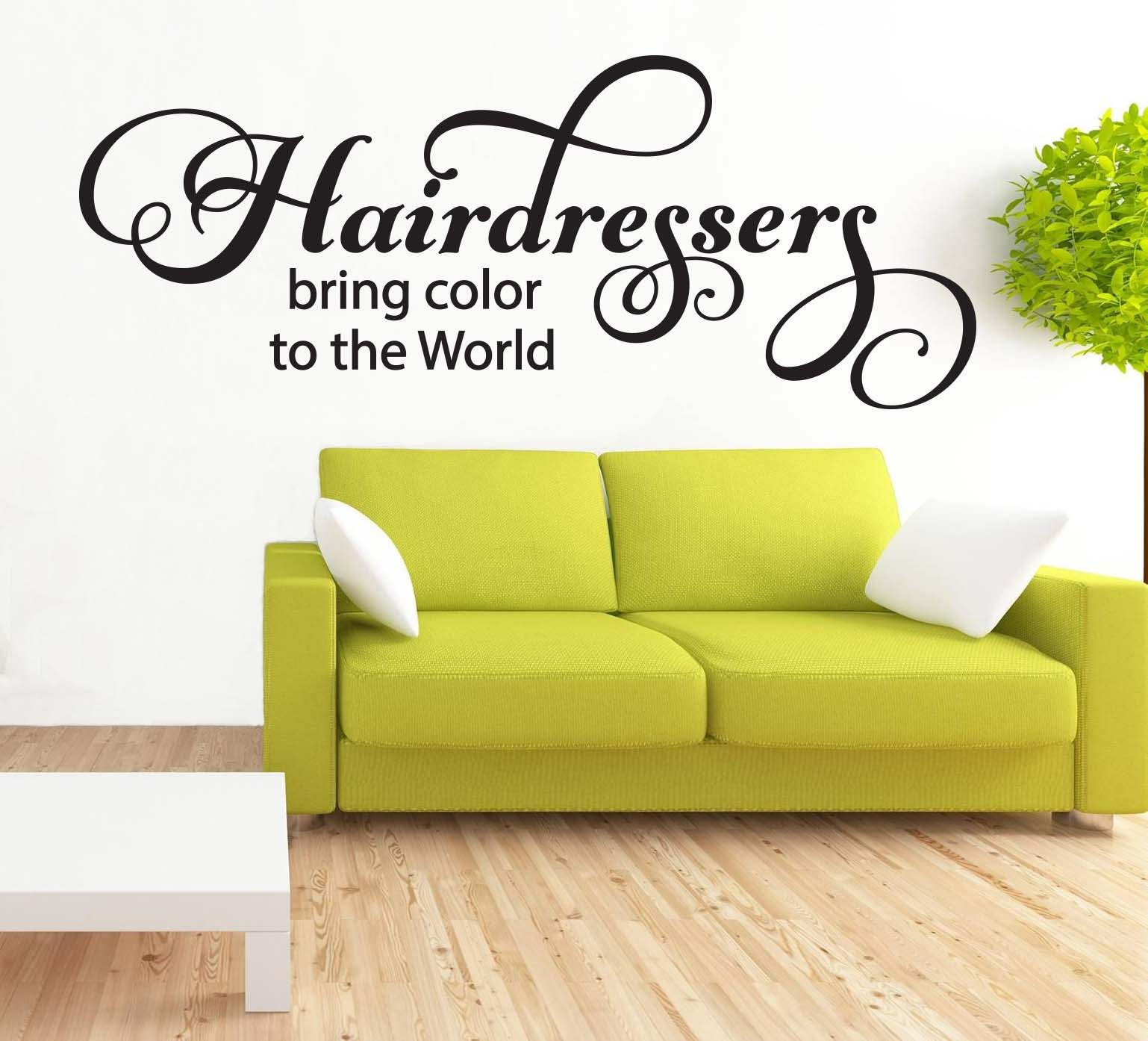 Hairdressers Bring Color To The World Wall Art Quote Sign | Etsy