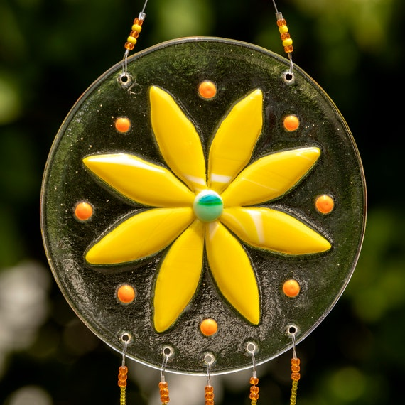 Yellow and Orange Flower Windchime
