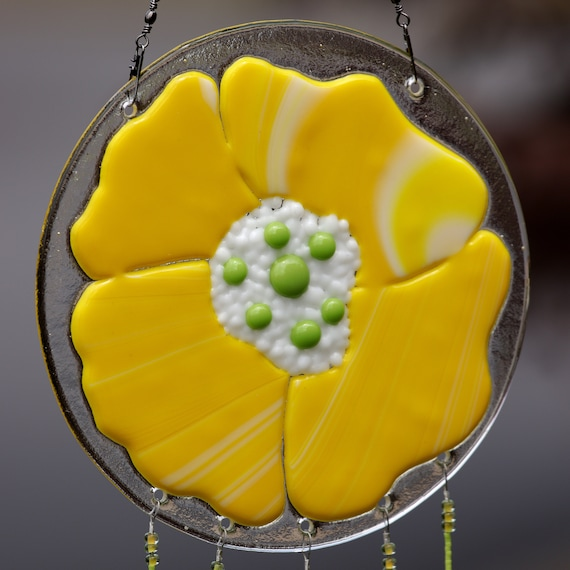 Yellow Poppy Windchime