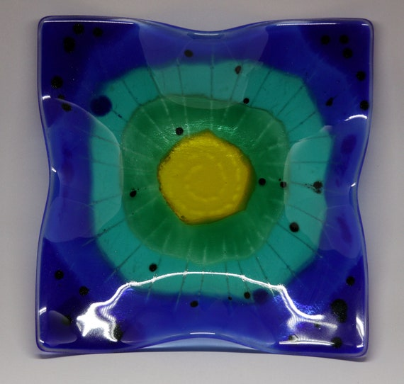 Tie Dye Platter - Fused Glass