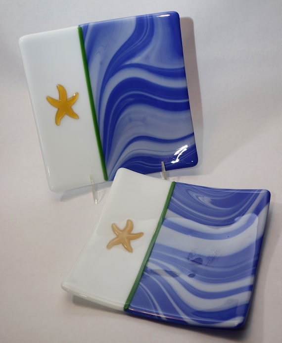 Blue and White Starfish Plates
