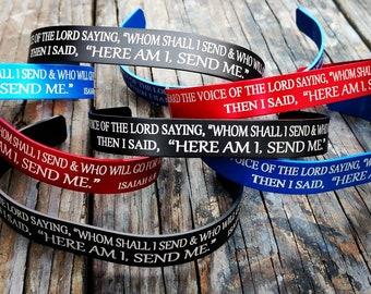 Send Me Bible Verse Aluminum Bracelet