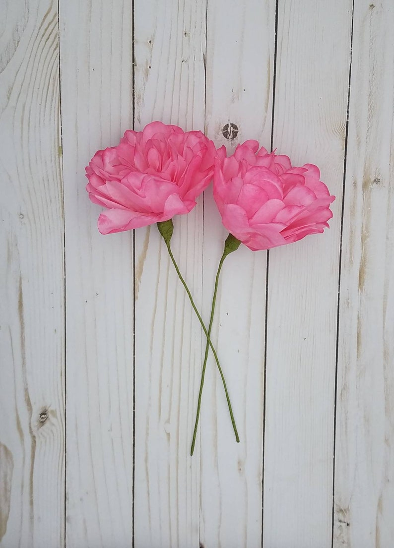 Hot Pink Paper Flowers Paper Peonies Paper Flower Bouquet Baby Shower Flowers Nursery Decor Smash Cake Topper
