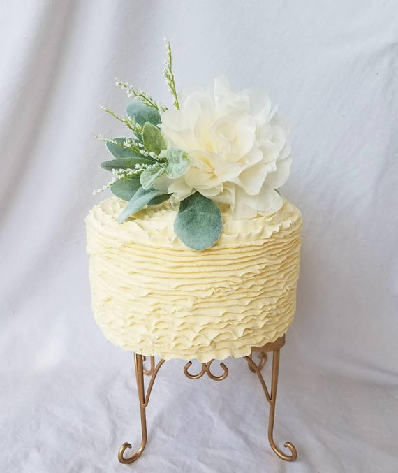 Ivory Peony Cake Topper Paper Peony Wedding Cake Flower | Etsy