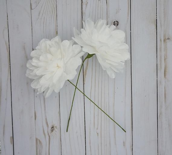 White Paper Peonies Paper Bridal Bouquet Diy Wedding Flowers White Flowers Centerpiece Flowers Paper Flowers