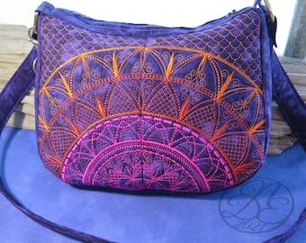 BoHoBo Bag -  In The Hoop Digital Embroidery Design Pattern + Tutorial - DIY - Instant download