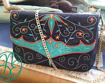 Digital Embroidery : Cowgirl Romance Bag - In the hoop machine embroidery files Instant download