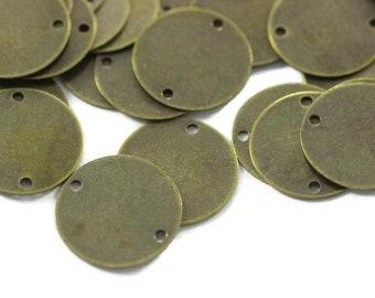 Antique Bronze Color Flat Round Blank Disc 12mm. 300pcs