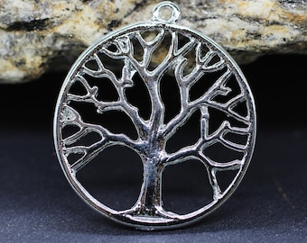 TROC Jewelry Connectors Necklace charms Tree of Life pendant Rose Gold Large Tree of Life Charms 32x36mm Tree of Life Bracelet Charms