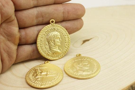 Antike Griechische Münze Anhänger Gold Anhänger Gold Münze Etsy
