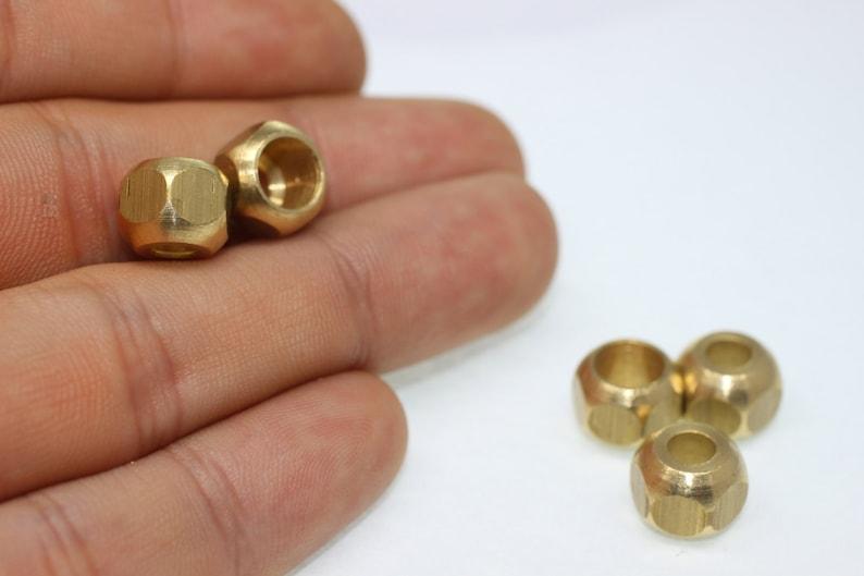 """50 Pièces Petite laiton entre-Perle Spacer /""""Cube/"""" 2,5 x 2,5 mm Bronze-couleurs"""
