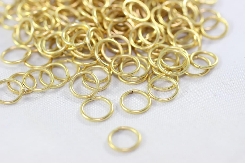 250 PC plaqué or anneaux, 8,5 mm petit saut anneau connecteurs connecteur, connecteurs anneau en plaqué or, plaqué or conclusions, anneaux, JMPG 01084a