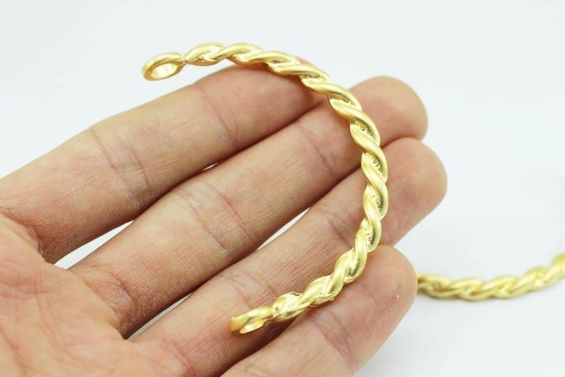 Making Bracelet Bracelet Supplies Spiral Bracelet Handmade Gold Plated Cuff Bracelet Bangle Twisted Bracelet 58 mm Gold Bracelet Blanks