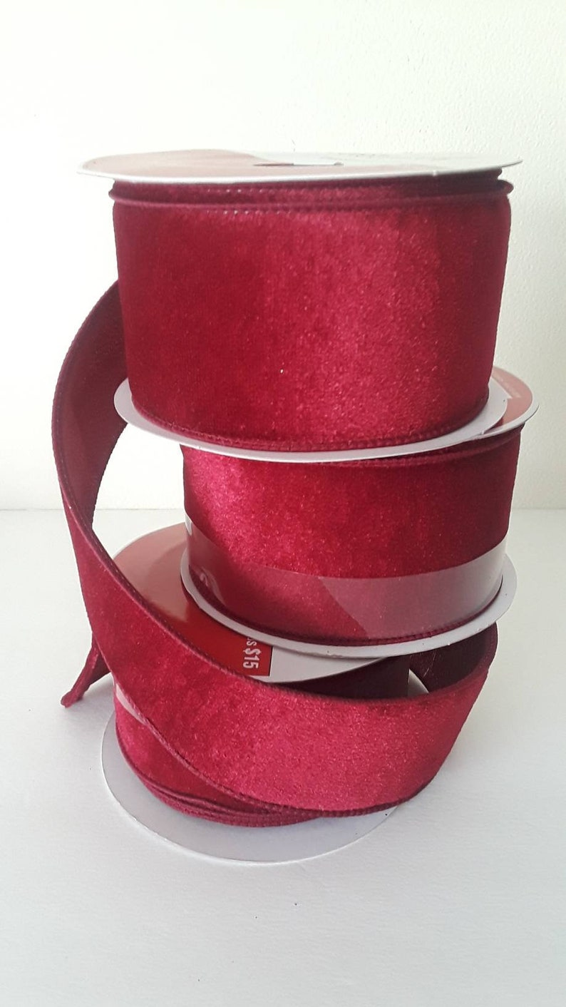 Rose and White Diagonally Striped Wired Ribbon  Polyester 2-1//2 In x 25 Ft