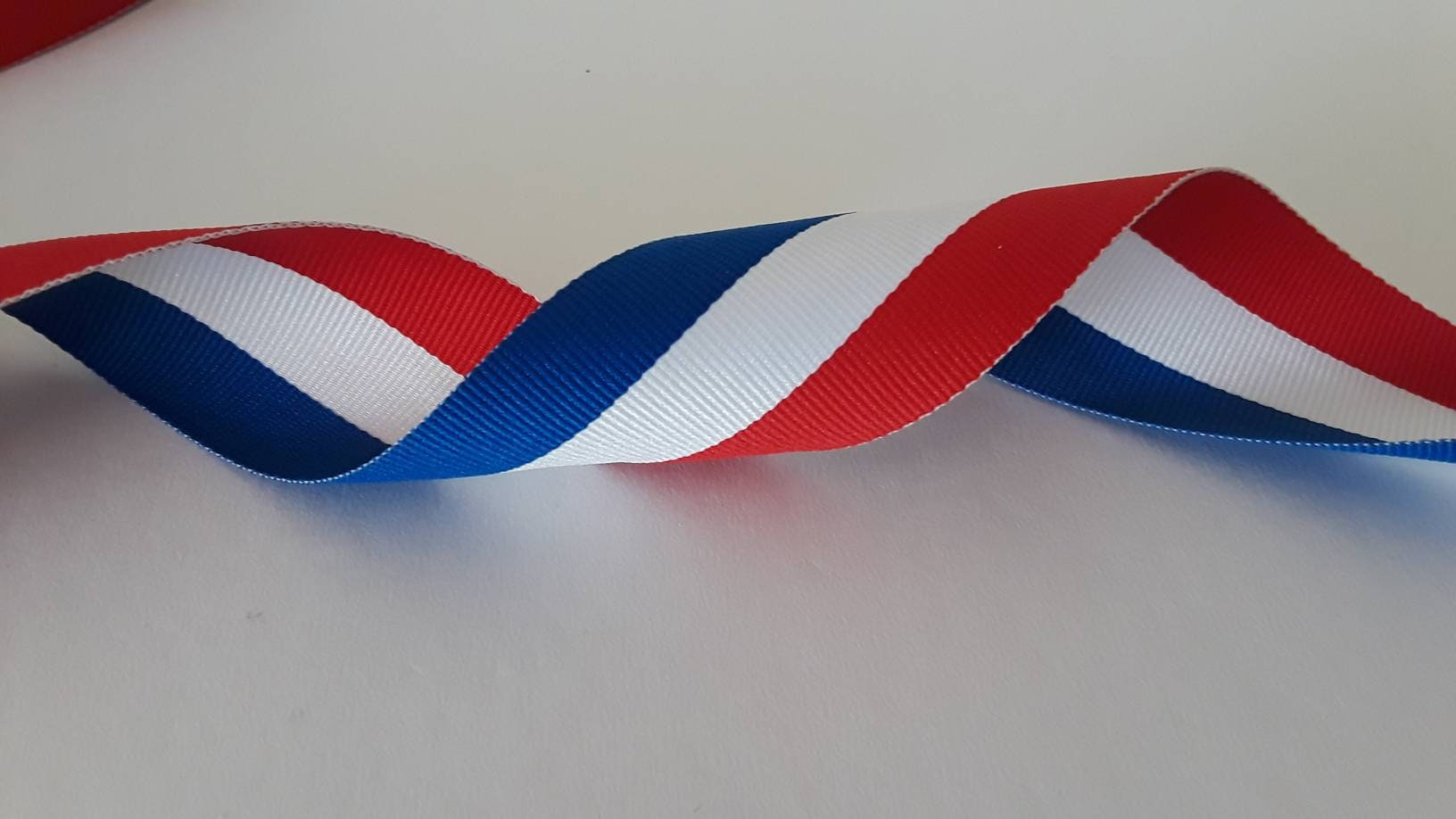 0c4126b5c Patriotic Grosgrain Ribbon. Red Blue and White Stripes. | Etsy