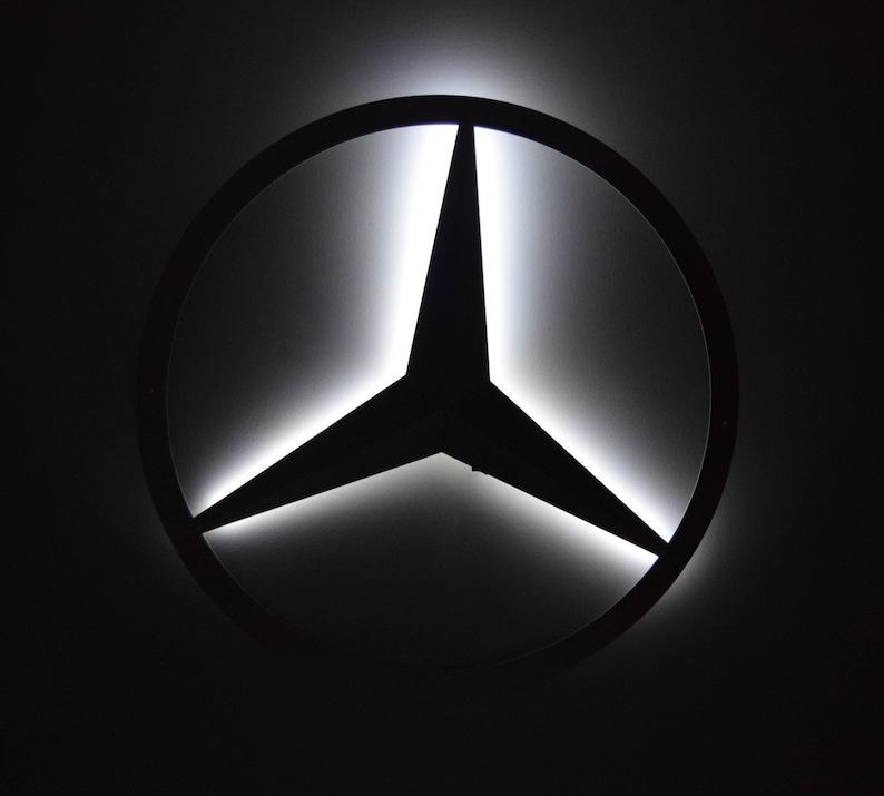 Mercedes Benz Logo Led Hintergrundbeleuchtung Die Etsy