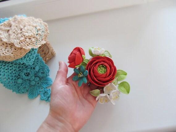 Ranunculus gestrickte Brosche | Etsy