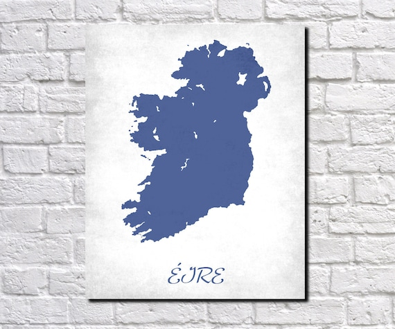 Country Map Of Ireland.Ireland Map Print Map Of Ireland Country Map Poster Irish Gift Etsy