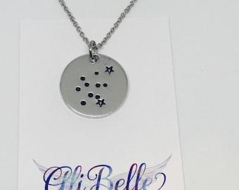 Aquarius Necklace, Zodiac Necklace, Constellation Necklace, Star Necklace, Sign Necklace, Astrology Necklace, Zodiac Jewelry, Zodiac