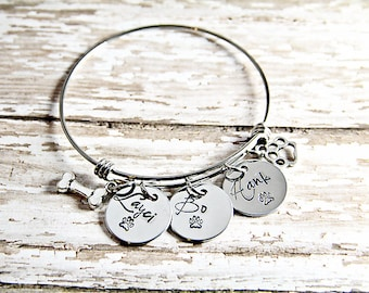 Pet Memorial - Dog Lover Bracelet  - Dog Charm Bracelet - Dog Lover Gift - Fur Baby - Pet Loss Jewelry - Dog Loss - Pet Loss