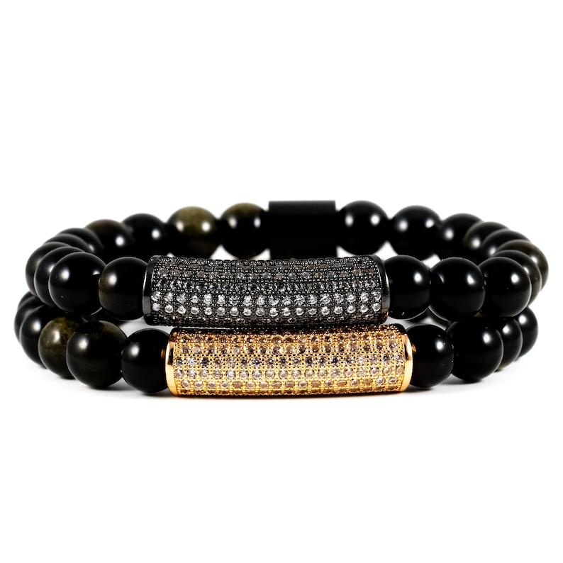 Elegance Package: Black Obsidian Gemstone and 18K Rose Gold & image 0