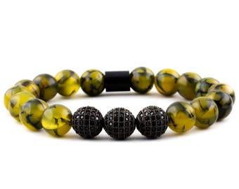 Bracelet: Black Diamond Agate