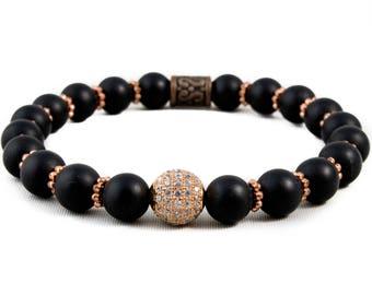 Onyx Elite 14K Rose Gold Bracelet