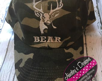 77e940954b6 Camo hunting hats- personalized! Youth or adult!