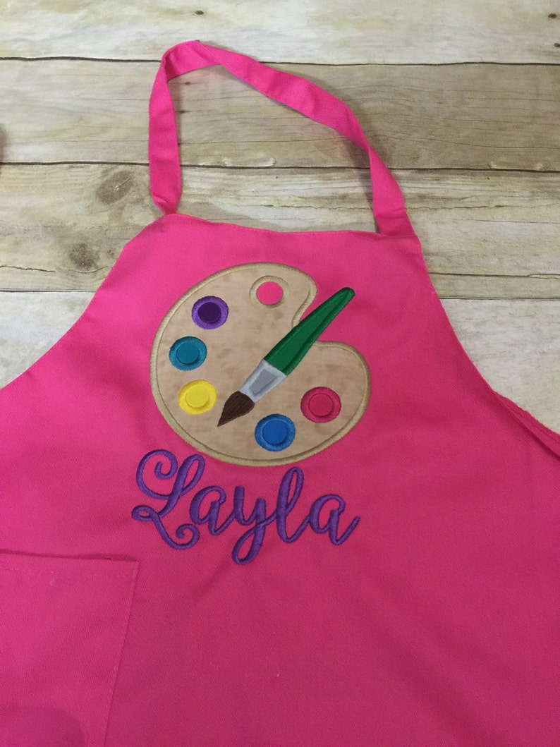 Kids/ toddler painting smock Personalized image 1