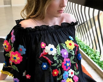 286ba70a54a74f Mexican embroidered blouse