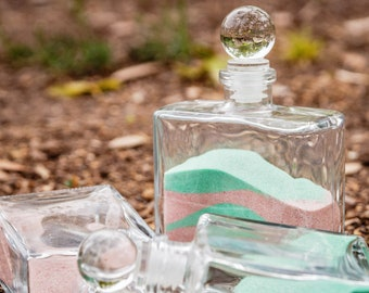 Small Unity Sand Ceremony Set with Glass Stoppers - Wedding Decor - Unity Sand - Beach Wedding - Glass Bottles with Sand Included