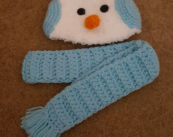 Snowman Hat with Scarf