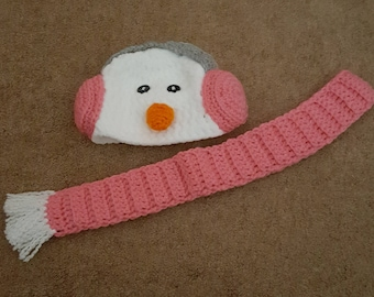 Snowman Hat and Scarf