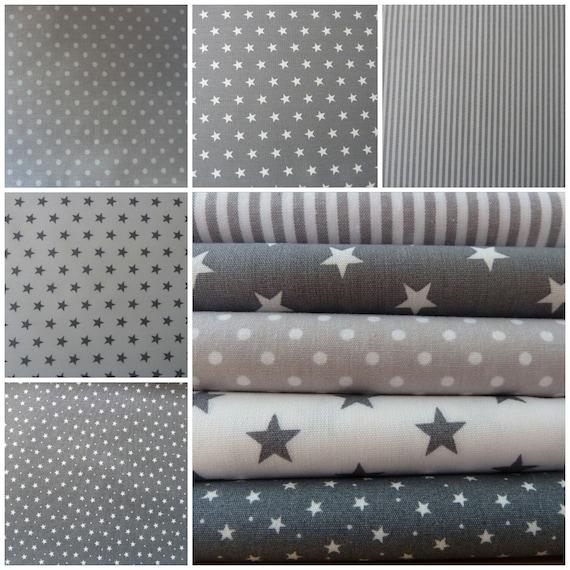 Blue /& Grey Patchwork Fabric Bundles 100/% Cotton Craft Offcuts Remnants 10 piece