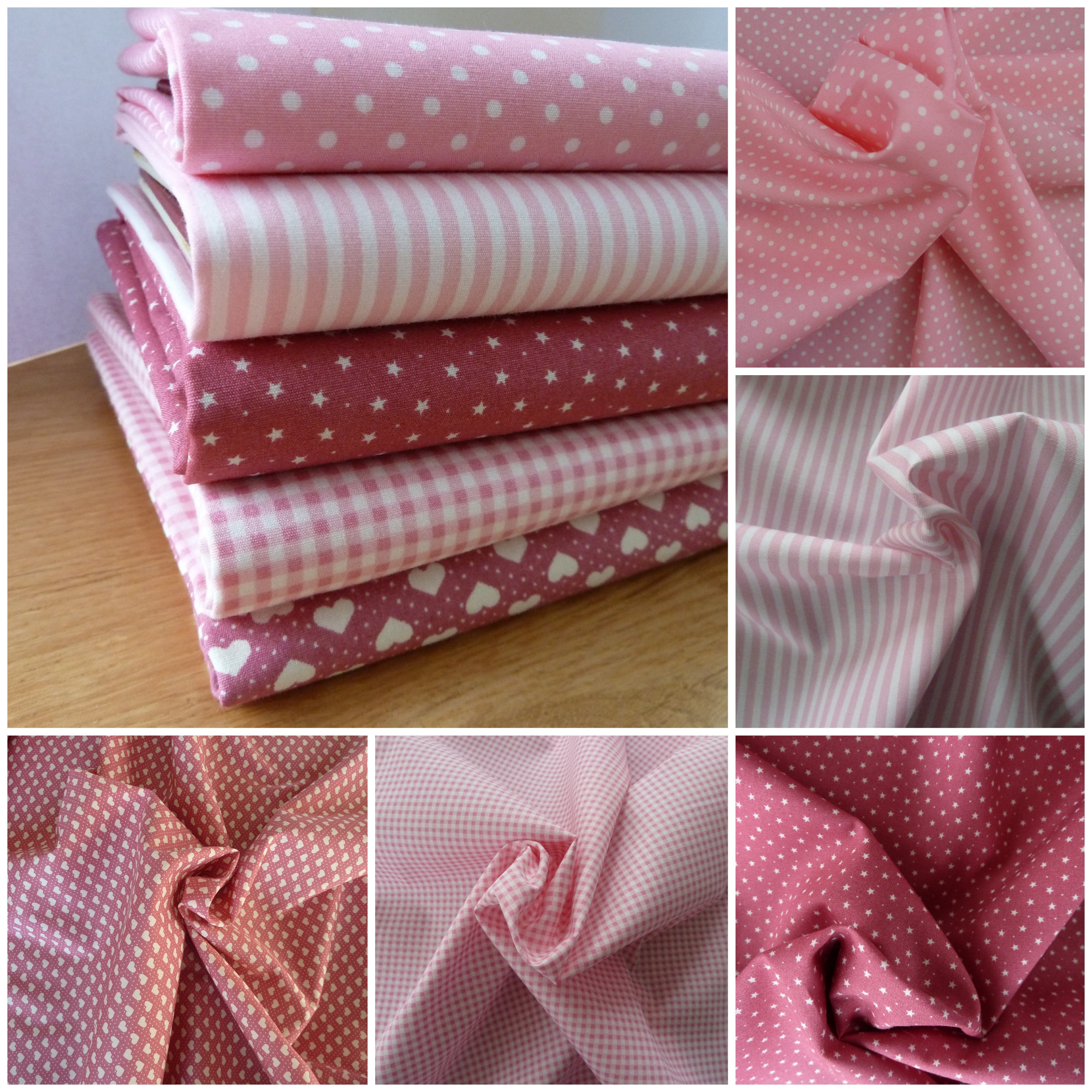 5 FAT QUARTER BUNDLE favourite florals dusky pinks /& ivory 100 /% cotton
