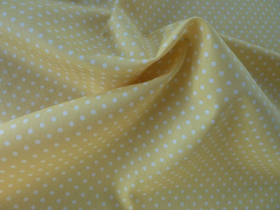 Fiona Fabric Dots On Yellow Out Of Print Last Yard QT Premium Cotton