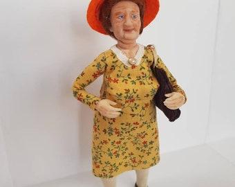 OOAK doll Art doll for dollhouse 1:12 Charakter doll