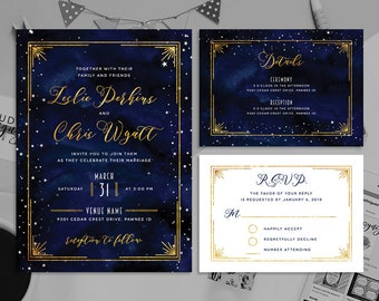 Starry Night Wedding Etsy