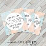 "Printable Bath Bomb Favor Tags, Baby Shower 2"" Favor Tags, Square Bath Bomb Favor Tags, Digital Download"