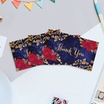 """Beauty and the Beast Printable Favor Tags, Printable 3.5"""" x 2"""" Thank You Favor Tags, Favor Tags, DIGITAL PDF ONLY, Instant Download"""