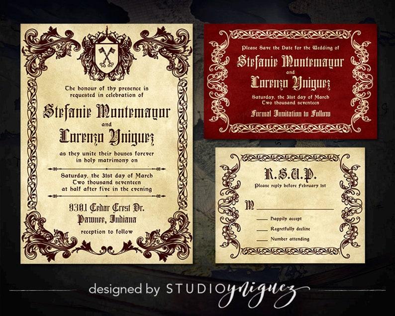 medieval wedding invitations - 794×635