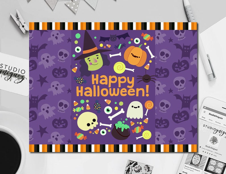Halloween Printable Chip Bag 5.5 x 8.5 Printable image 0